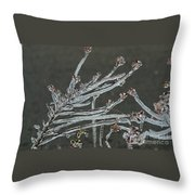 Icy Branch-7474 Throw Pillow