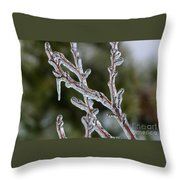 Icy Branch-7485 Throw Pillow