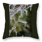 Icy Branch-7506 Throw Pillow