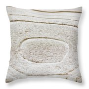Icy Bulls Eye Throw Pillow