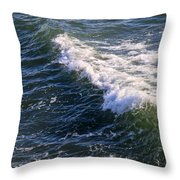 Icy Cold Ocean Water Throw Pillow