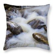 Icy December Brook Throw Pillow