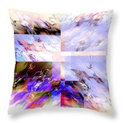 Icy Flames Throw Pillow
