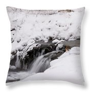 Icy Flow Throw Pillow