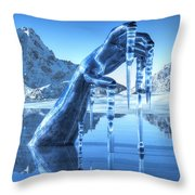 Icy Grip Throw Pillow