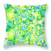 Icy Lime Throw Pillow