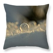 Icy Marbel Throw Pillow