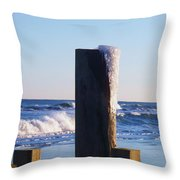 Icy Ocean Bulkhead Throw Pillow