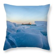 Icy Passage Throw Pillow