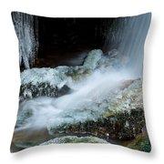 Icy Patapsco Waterfall 2 Throw Pillow