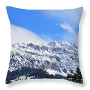 Icy Profile Throw Pillow