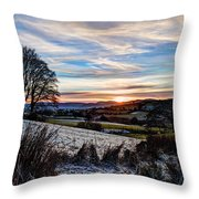 Icy Sunset Throw Pillow