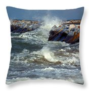 Icy Temperatures In Northeast Throw Pillow