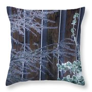 Icy Verticles Throw Pillow