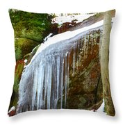 Icy Waterfall  Throw Pillow