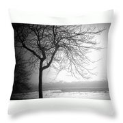 Icy Waters Of Lake Michigan Throw Pillow