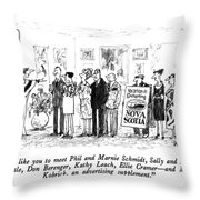 I'd Like You To Meet Phil And Marnie Schmidt Throw Pillow