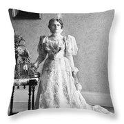Ida Saxton Mckinley (1847-1907) Throw Pillow