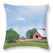 Idaho Falls Barn Throw Pillow