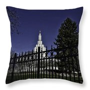Idaho Falls Temple Series 4 Throw Pillow