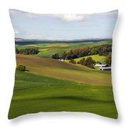 Idaho Farmland Throw Pillow