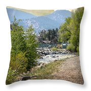 Idaho Springs Paradise Throw Pillow