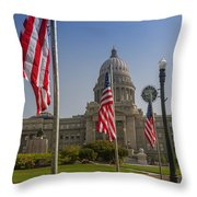 Idaho State Capitol In Boise Throw Pillow