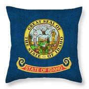 Idaho State Flag Throw Pillow by Pixel Chimp