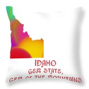 Idaho State Map Collection 2 Throw Pillow