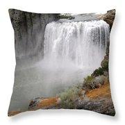 Idaho Waterfall Throw Pillow
