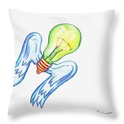 Idea Takes Flight Throw Pillow by Feile Case