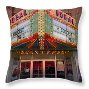 Ideal Theater In Clare Michigan Throw Pillow