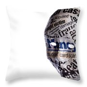 Identity Fraud Concept Mask Throw Pillow