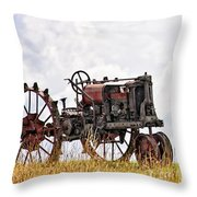 Idle Fordson Tractor On The Hill Throw Pillow