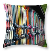 Idle Fun ... Waiting For Snow Throw Pillow by Janice Sakry