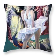 Idols And Fans... Throw Pillow