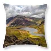 Idwal Lake Snowdonia Throw Pillow