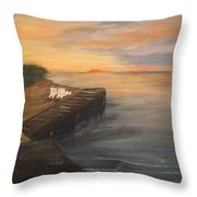 Idyllic Sunset Throw Pillow