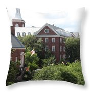 Idyllic View From Maryland State House Throw Pillow