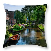 Idyllic Village 15. Venice Of The North Throw Pillow