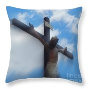 Iesus Nazarenvs Rex Ivdaeorvm Accession  At St. Joseph Church Garden In New Orleans Louisiana Throw Pillow