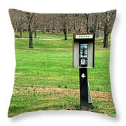 If A Phone Rings In The Forest Throw Pillow