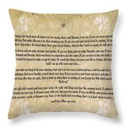 If By Rudyard Kipling Typography On Watercolor Throw Pillow