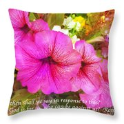 If God Is For Us Who Can Be Against Us Throw Pillow