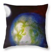 If Land Were Like Clouds In The Sky Throw Pillow