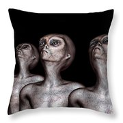 If One Was Three Throw Pillow