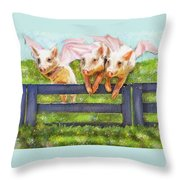 If Pigs Could Fly Throw Pillow by Jane Schnetlage