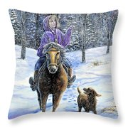 If Snowflakes Were Wishes Throw Pillow