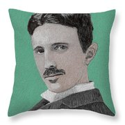 If You Could Read My Mind...tesla Throw Pillow
