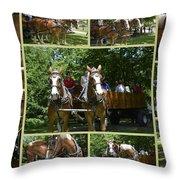 If You Love Belgian Horses Throw Pillow